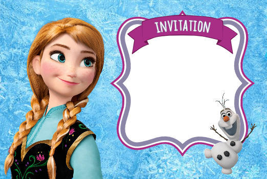 invitation-reine-des-neiges-anna-frozen