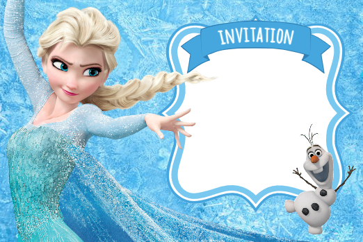 invitation-reine-des-neiges-elsa-frozen-bleue
