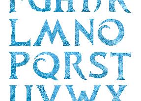 police-ecriture-reine-des-neiges-frozen-font