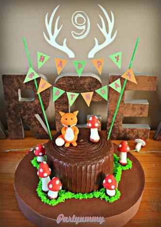 gateau-animaux-foret-renard-woodland-cake-fox-une