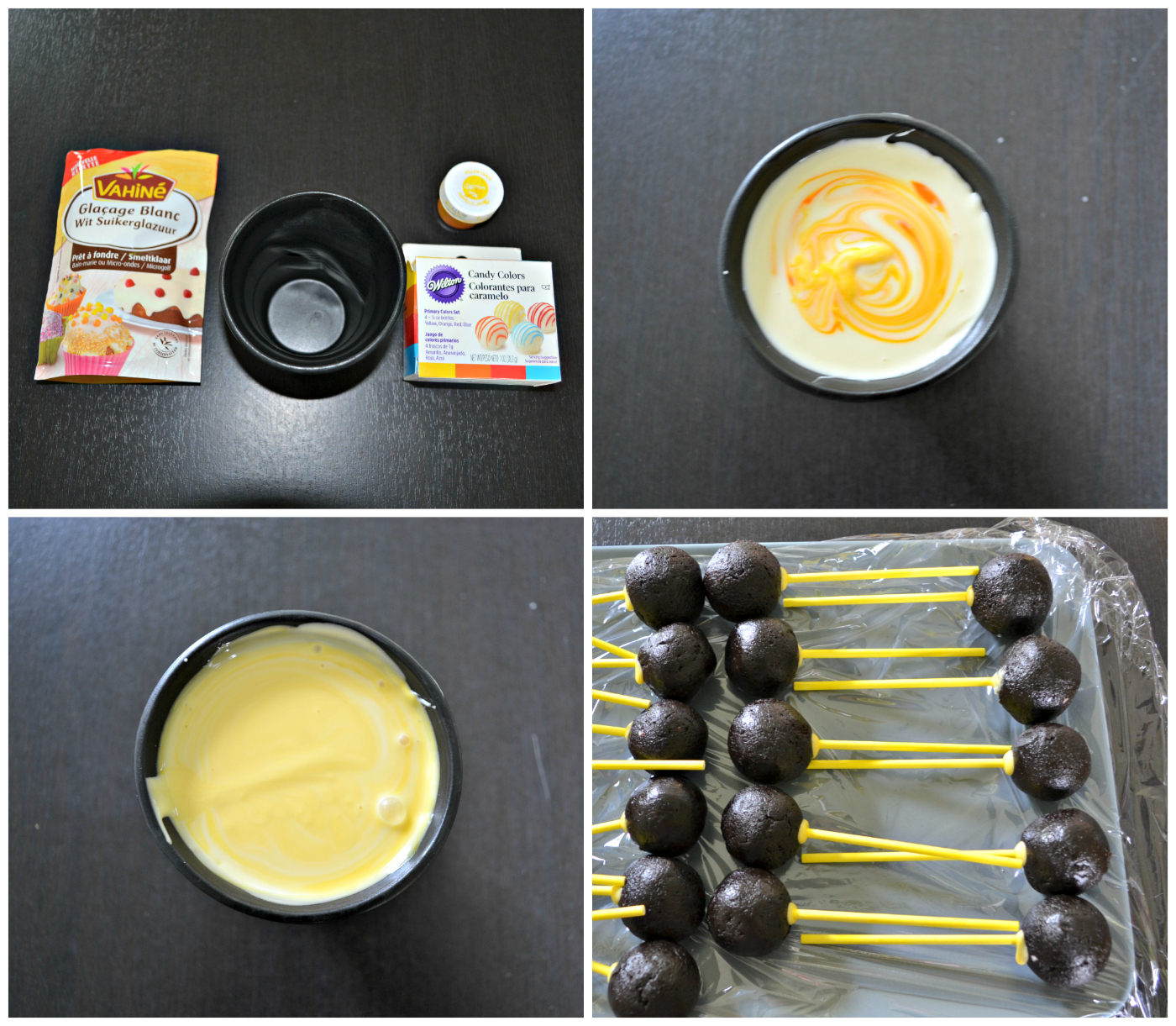 Anniversaire minions - Glacage pop cake ...
