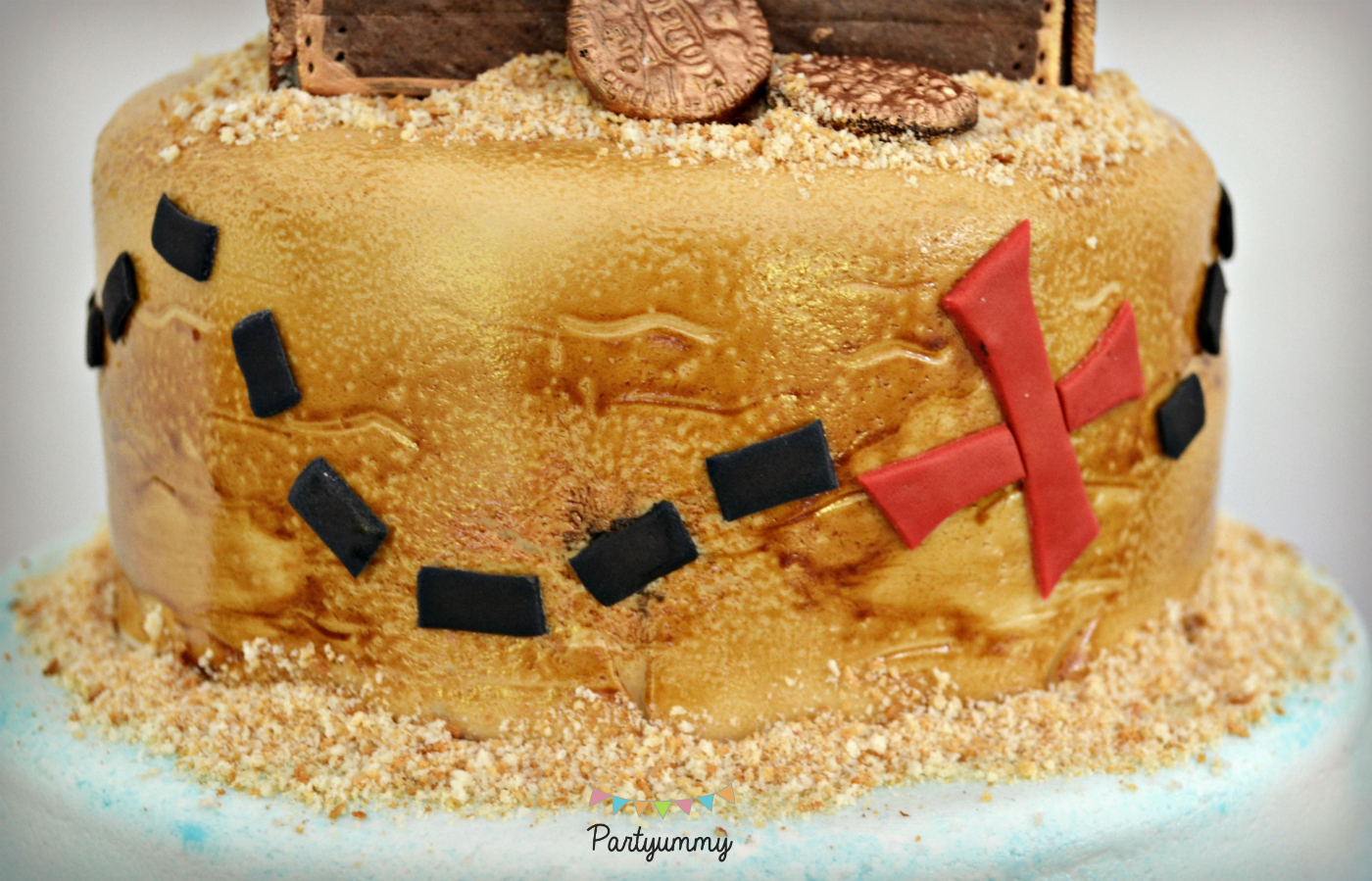 gateau-pirate-etage-sable-carte-tresor-treasure-map