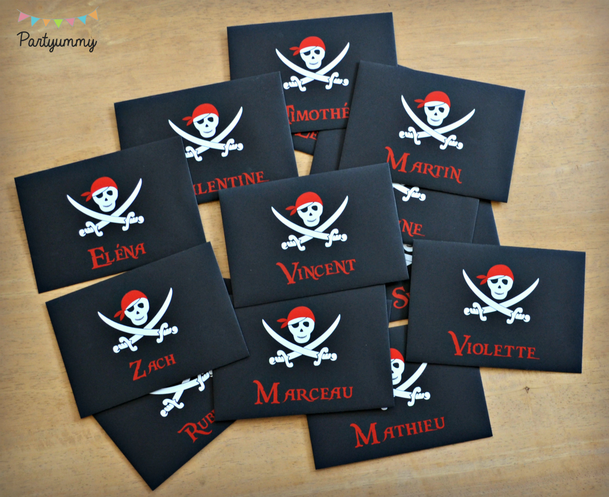Invitation pirate carte au tr sor - Invitation anniversaire garcon pirate ...