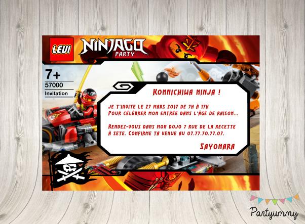 Anniversaire Ninjago