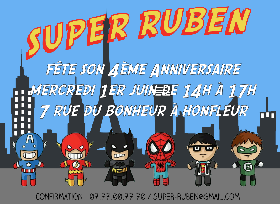 invitation-anniversaire-superheros-birthday