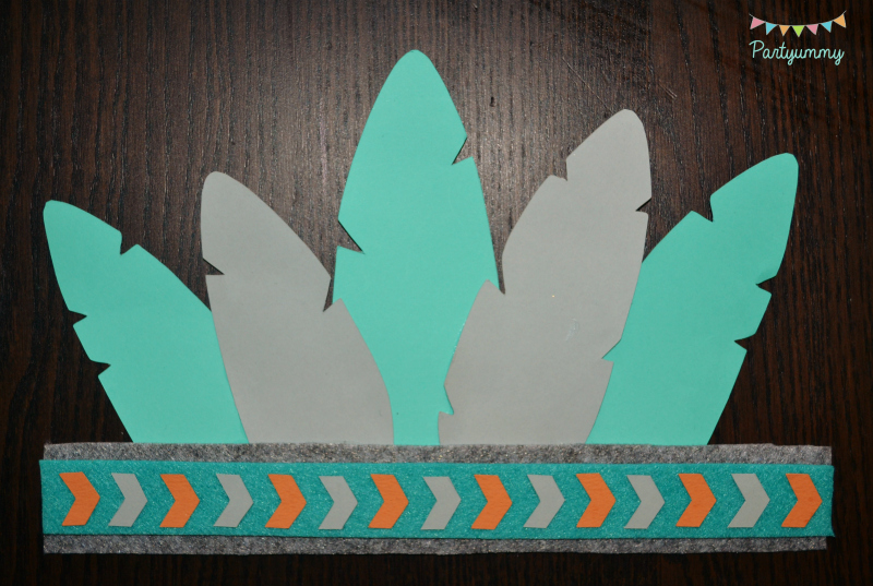 anniversaire-indien-tipi-pow-wow-boho-party-coiffe-indien-turquoise