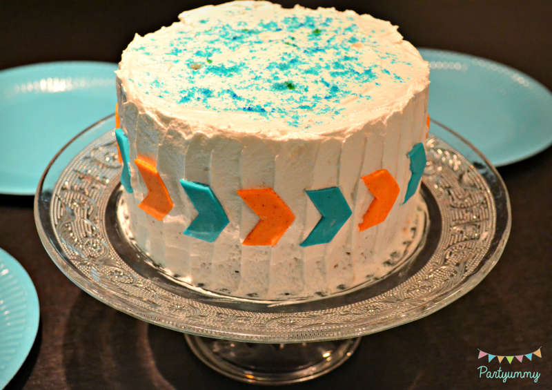 gateau-theme-indien-fleche-meringue-pate-sucre-arrow