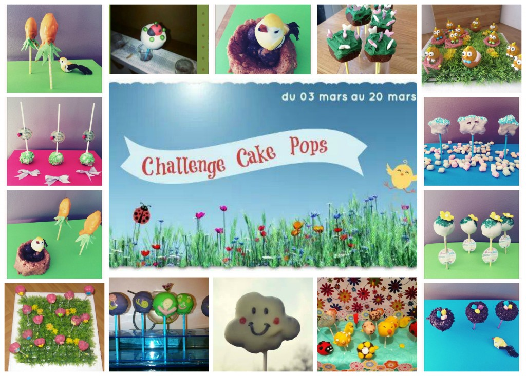 Cake pops printemps
