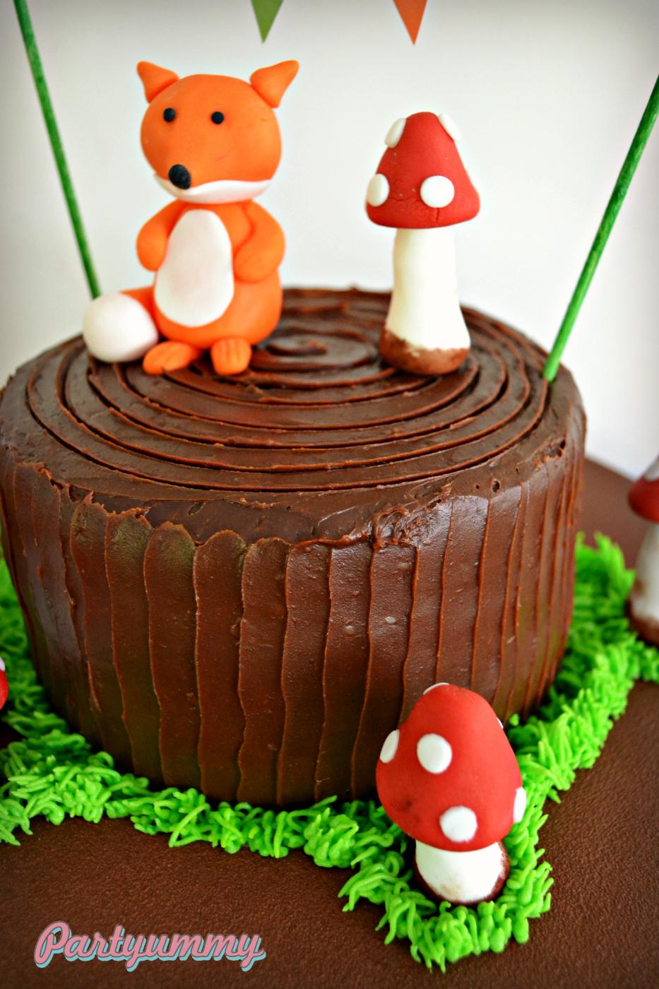 gateau-animaux-foret-renard-woodland-cake-fox-2