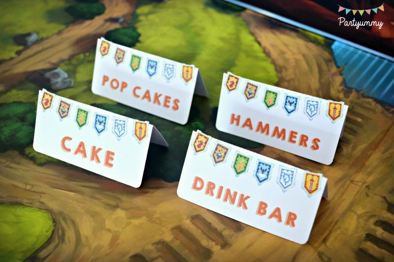 anniversaire-lego-nexo-knights-etiquettes-dessert-sweet-table