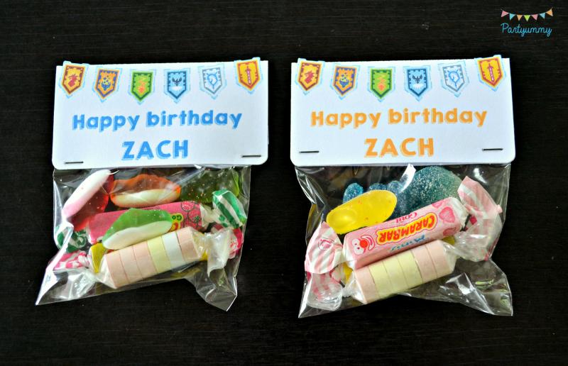 anniversaire-lego-nexo-knigths-sachets-bonbons