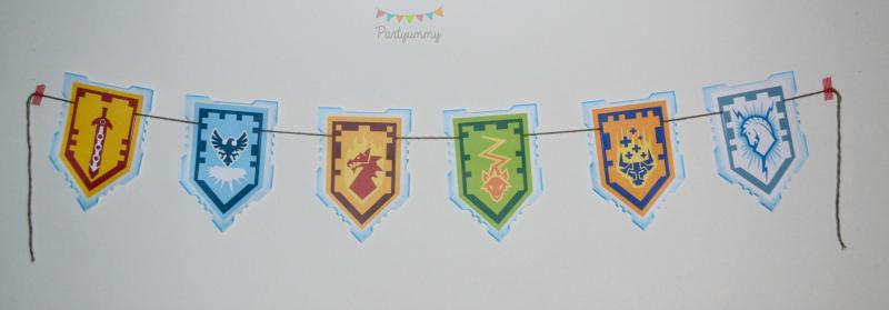 banderole-anniversaire-lego-nexo-knights-boucliers