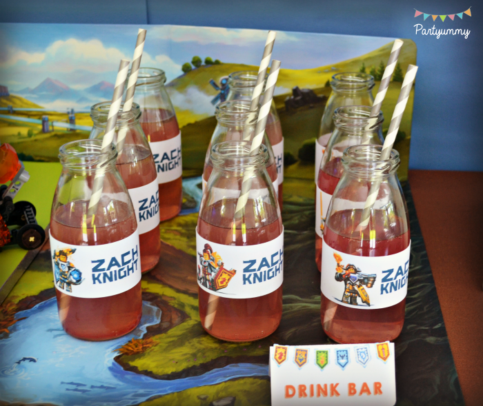anniversaire-lego-nexo-knights-decor-chateau-drink-bar-mibi-bouteilles-milk-bottle